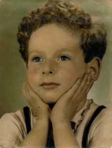A tinted  portrait of me  aged 3?