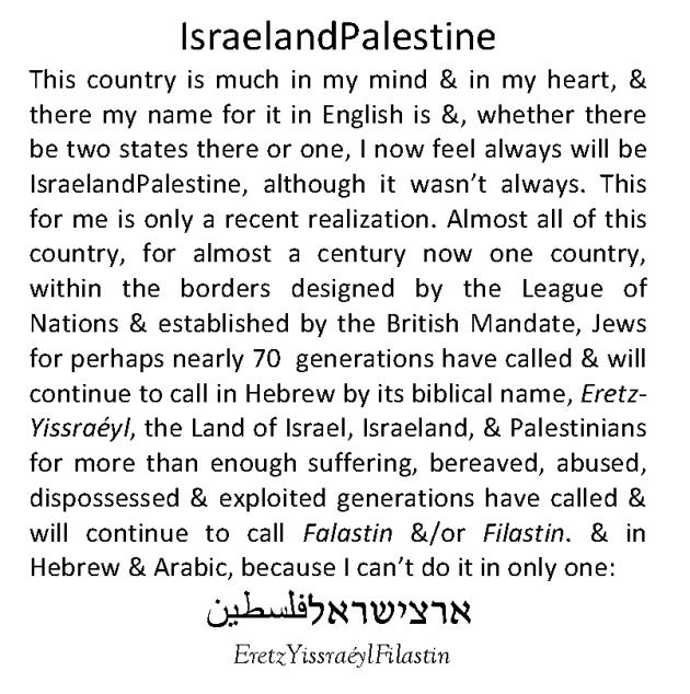 IsraelandPalestine