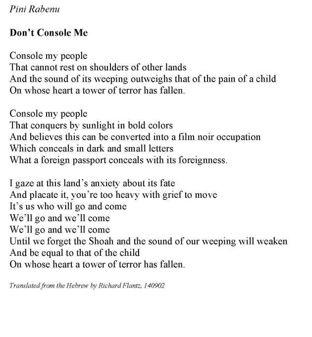 Pini Rabenu Don't Console Me 16