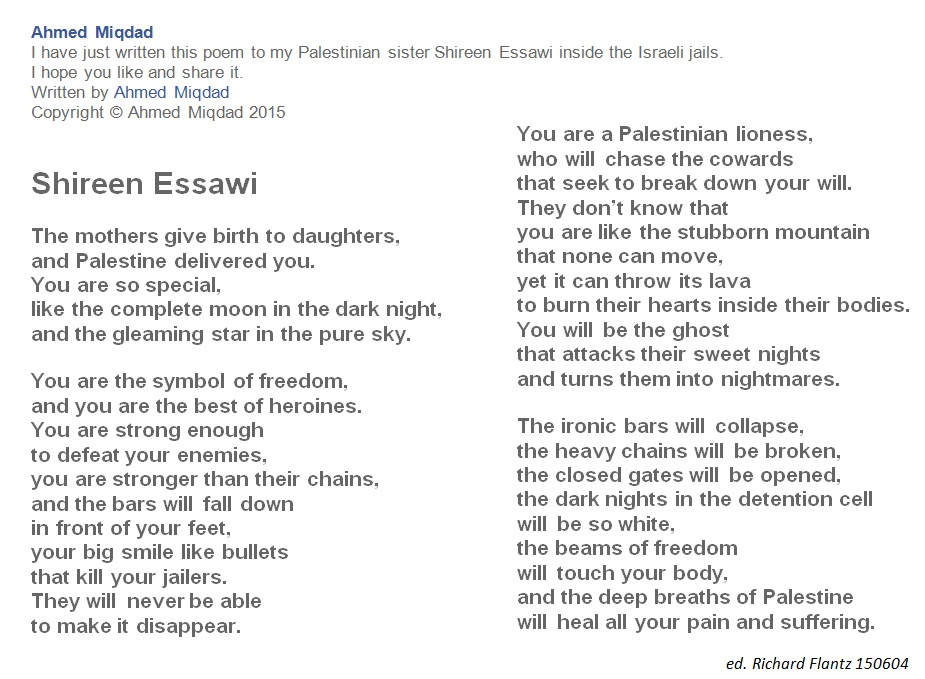 POEMS / in English / from GAZA 1-4 | dikflantz76+