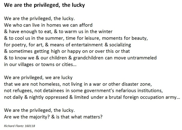 we are the privileged
