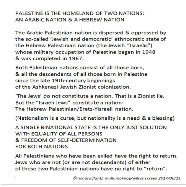 PALESTINE IS THE HOMELAND OF TWO NATIONS: AN ARABIC NATION & A